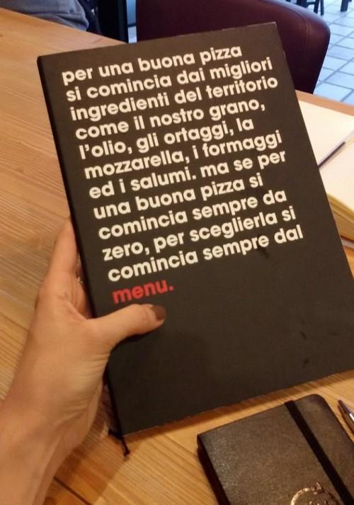 Da Zero, il menu