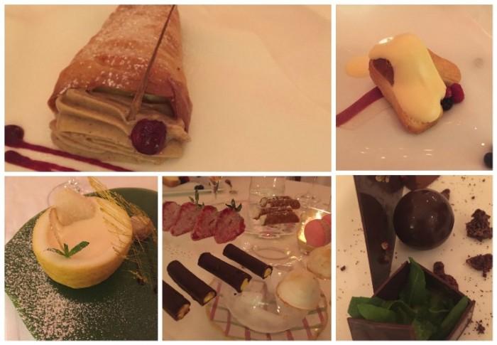 Don Alfonso, i dolci: il cono, il babà imperiale, la crema di limone nel limone, la piccola pasticceria e il cioccolato