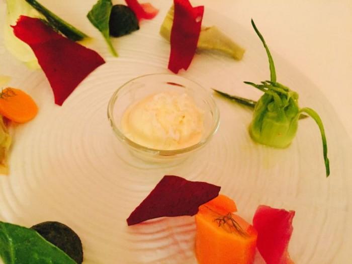 Don Alfonso, ortaggi biologici con gelato di rafano
