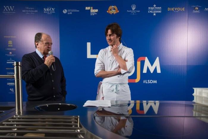 Giuliano Baldessari con Enzo Vizzari - foto di Alessandra Farinelli
