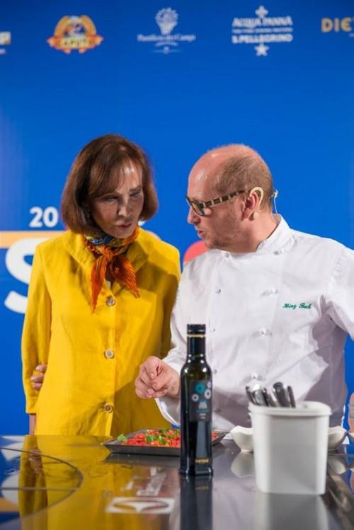 Heinz Beck con Fiammetta Fadda - foto di Alessandra Farinelli