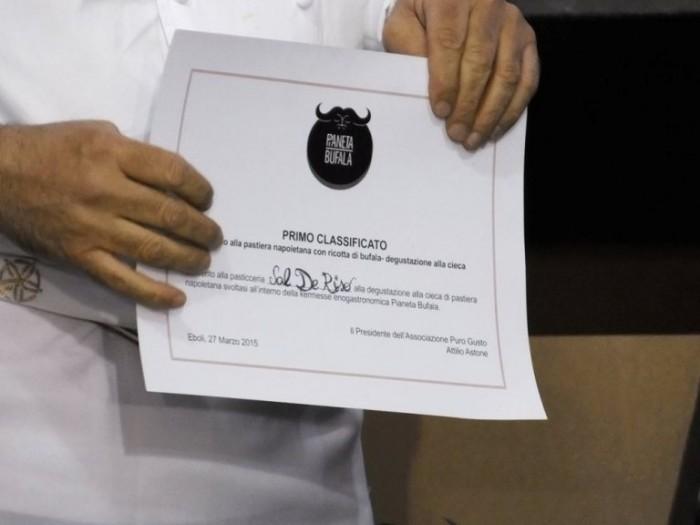 Il Diploma di Primo Classificato di Sal De Riso