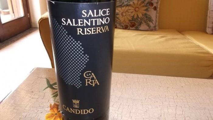 La Carta Salice Salentino Rosso  Riserva Doc 2011 Candido