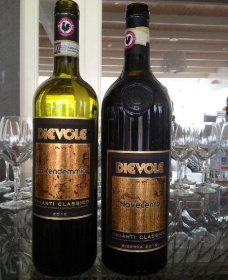 Le due etichette di Chianti Classico Dievole in degustazione