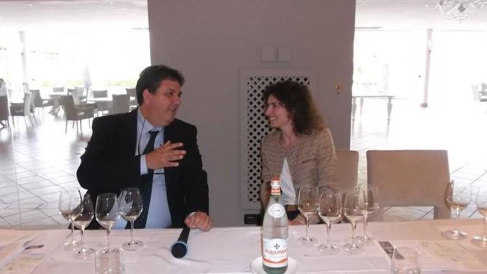 Luciano Pignataro con Alice Paillard