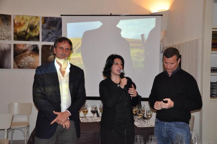 Marina Alaimo tra Davide e Gabriele Fonzone