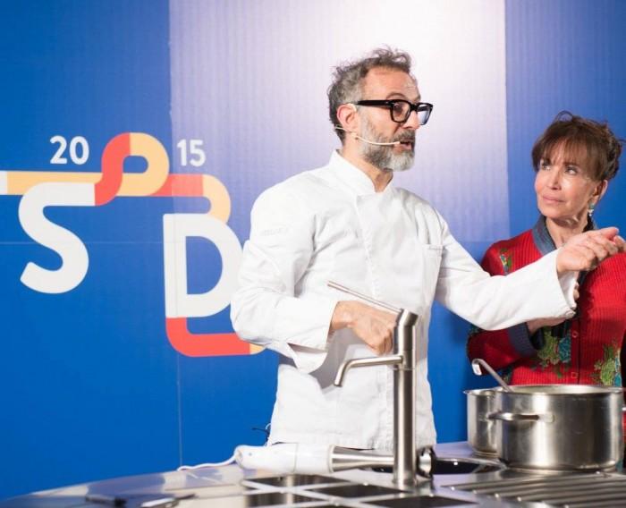 Massimo Bottura con Fiammetta Fadda