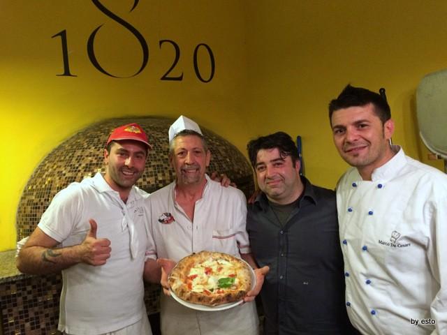 Napoli 1820  Giuseppe Fasano il pizzaiolo con Rosario Izzo e marco De Cesare