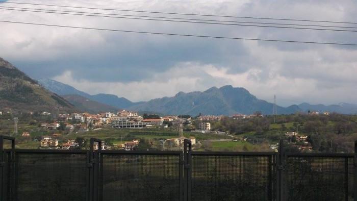 Panorama dall'azienda Montevetrano