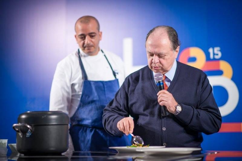 Pino Cuttaia con Enzo Vizzari - foto di Alessandra Farinelli