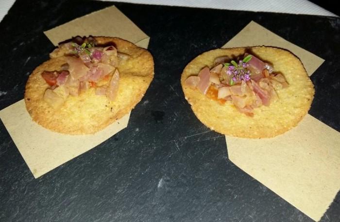 Taberna del Principe, Tacos di mais con cipolla rossa di Tropea
