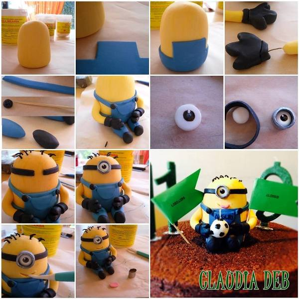 Tutorial Minion in pasta di zucchero