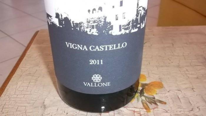 Vigna Castello Rosso Salento Igp 2011 Vallone
