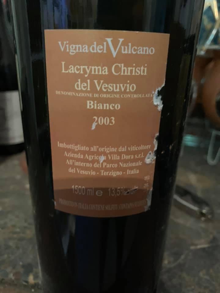 Lacryma Christi 2003 Vigna del Vulcano Villa Dora