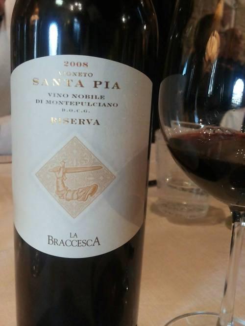 Vino Nobile di Montepulciano docg Riserva 2008 Vigneto Santa Pia di La Braccesca