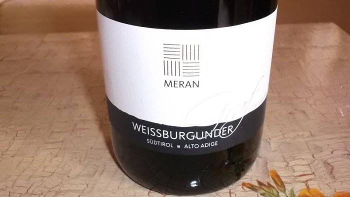 Weissburgunder Pinot Bianco Graf Von Meran Sudtirol-Alto Adige Doc 2014 Burggrafler