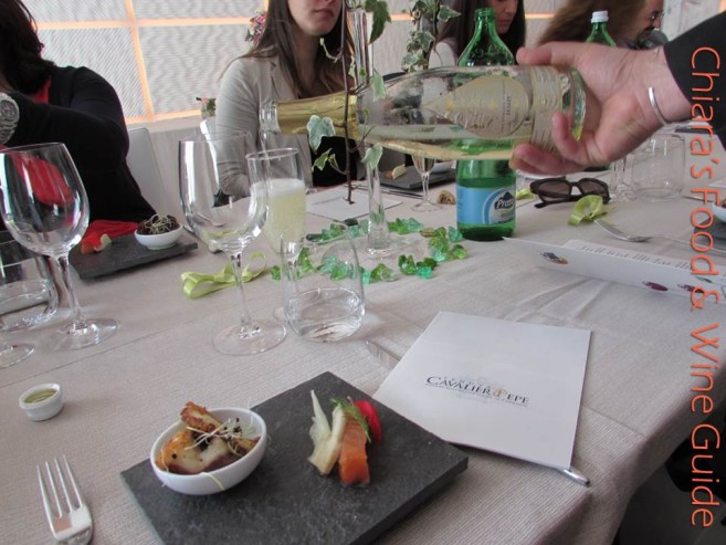 la degustazione dei primi 10 anni di Taurasi della Tenuta Cavalier Pepe, il pranzo