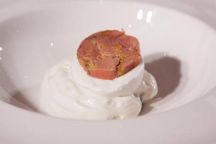 la mozzarella con salicornia di Luigi Taglienti