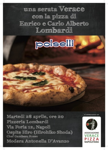 la serata con le le farine Polselli alla pizzeria Lombardi