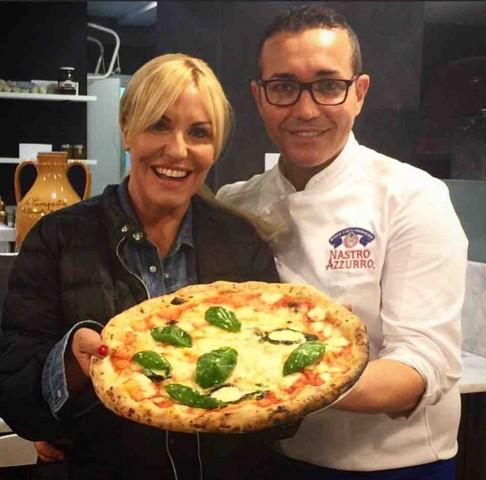 Pizza Expo: Antonella Clerici e Gino Sorbillo