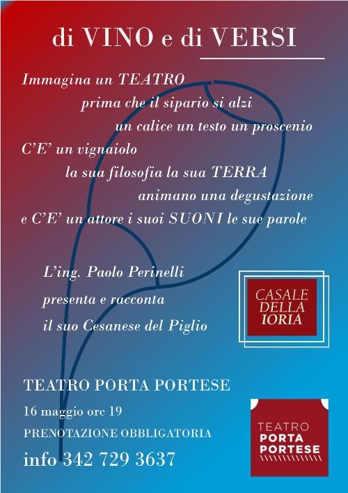Di Vino e di Versi al Teatro Porta Portese