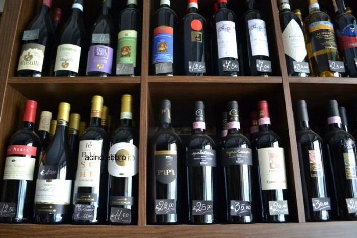Enogastronomia Salvatore Cautero, i vini