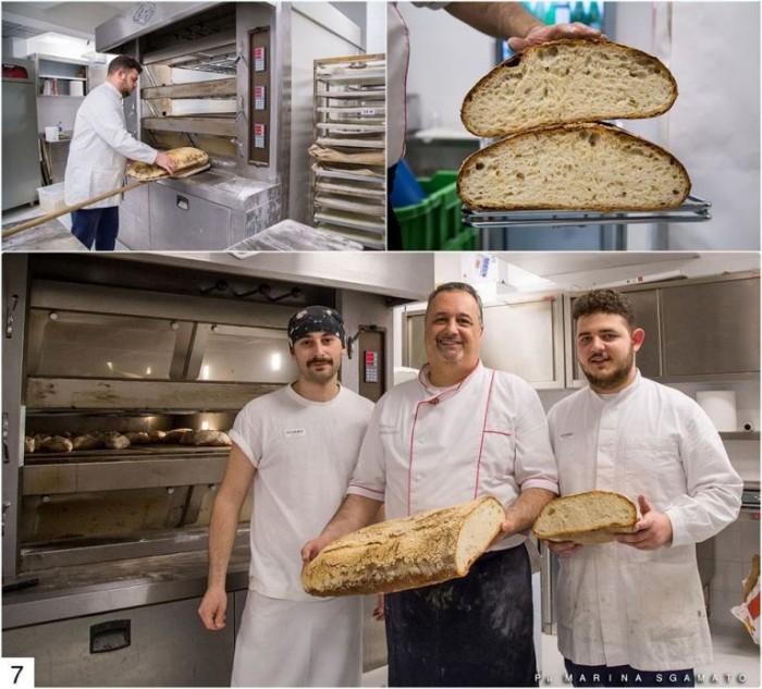 Enrico Zambardino, Massimo Verrone e Ciro Febbraio presso il laboratorio del pane di Gourmeet
