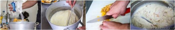 Fasi per la preparazione della crema