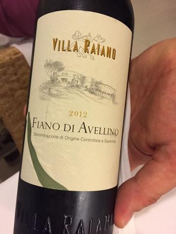 Fiano di Avellino 2012 Villa Raiano