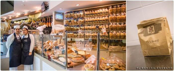 Il banco con pane e derivati di Gourmeet