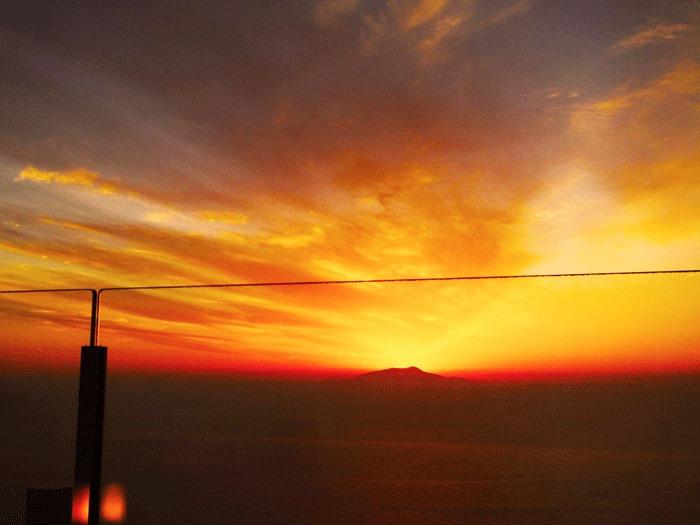 Il tramonto dalla terrazza del Relais Blu