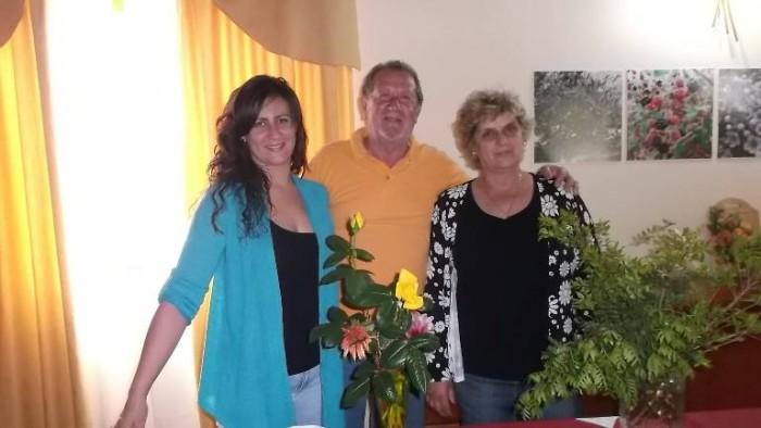 La famiglia Cammarano con la figlia Milena e genitori
