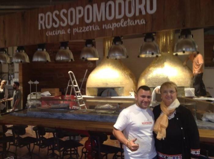 Lidia Bastianich con Davide Civitiello