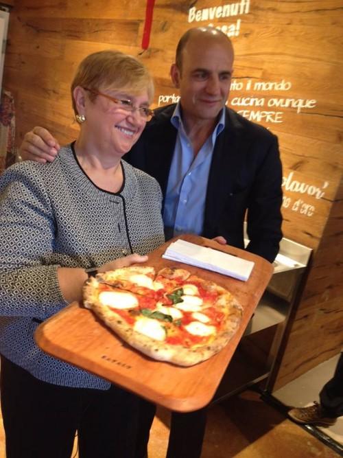 Lidia Bastianich con Franco Manna