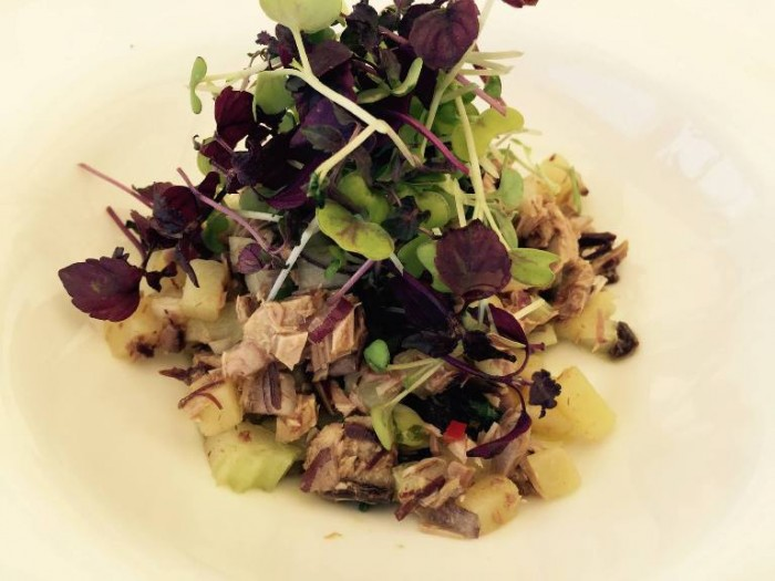 Novezerodue, tonno, sedano, patate e verdure