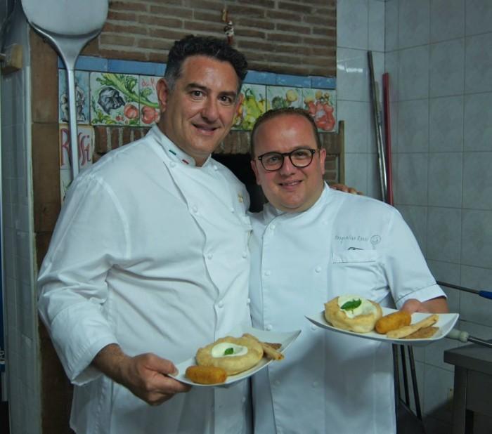 Pizzeria Elite Rossi, Pasqualino Rossi con Sal De Riso