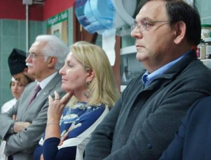 Scuola Dolce e Salato, da dx vesro sx il prof. Alberto Ritieni, la prod.ssa Anna Maria Colao e il prof. Giorgio Calabrese