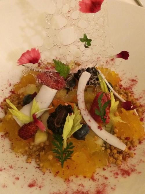 Terrazza Marziale, il dessert di frutta e verdura