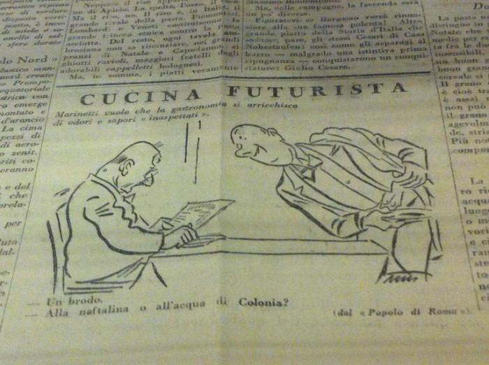Vignetta dedicata a Marinetti