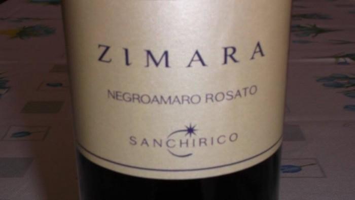 Zimara Negroamaro Rosato Puglia Igp 2014 Sanchirico