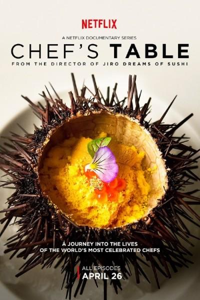 La pubblicità del documentario Chef's Table