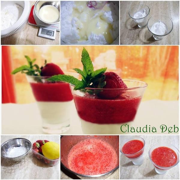 tutorial semifreddo alla panna con geleè di fragole