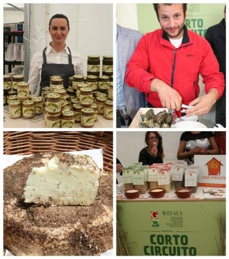 Conserve tipiche, ostriche garganiche, formaggi conservati nella crusca e pasta tipica