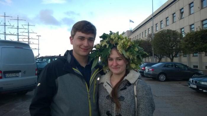 Gdynia, corona di fiori