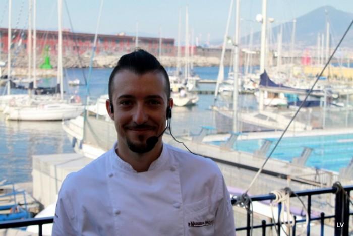Gianfranco Bruno sulla terrazza del circolo Canottieri di Napoli