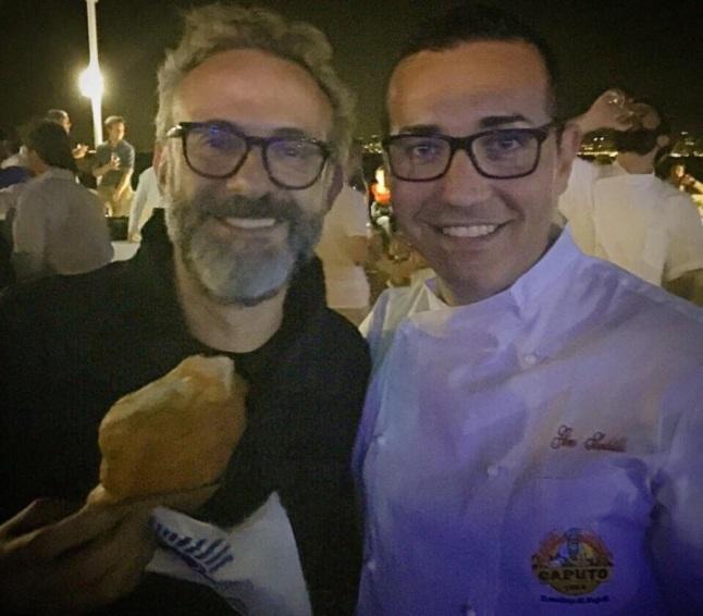 Gino Sorbillo con Massimo Bottura