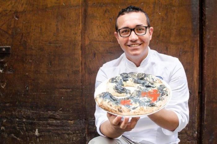 Gino Sorbillo con la Pizza Modigliani