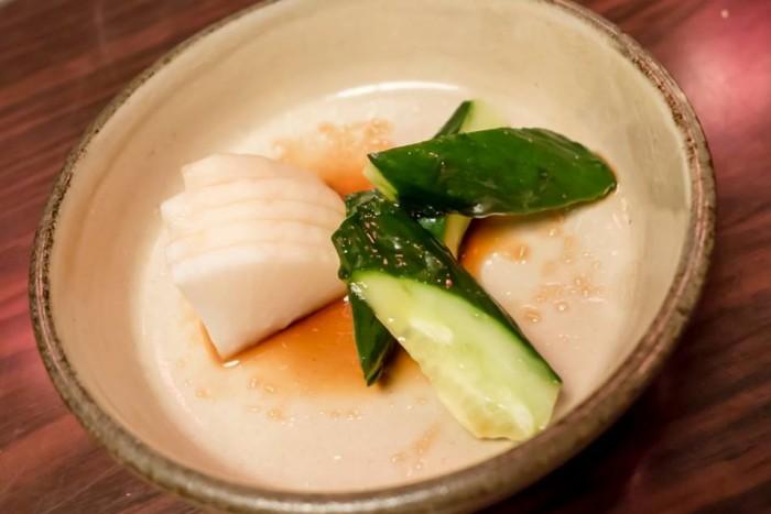 Goemon, Verdure fresche con umeboshi