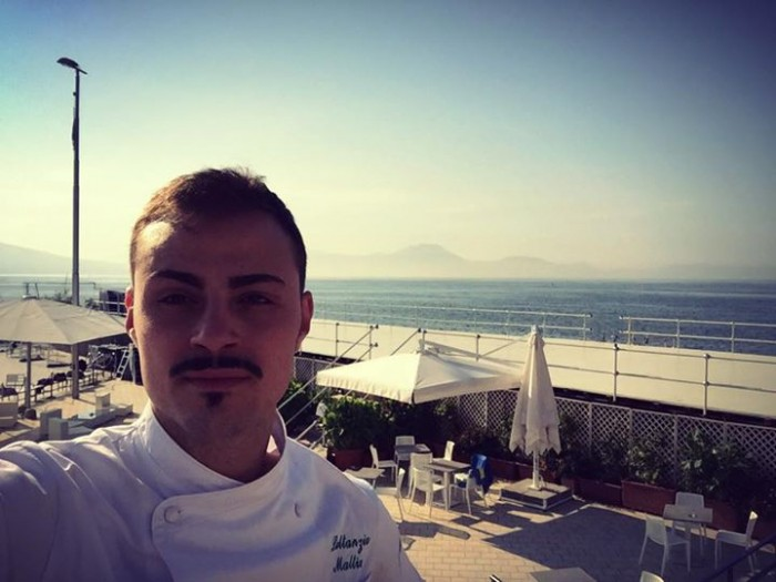 Mattia Lattanzio sulla terrazza del Circolo Canottieri di Napoli
