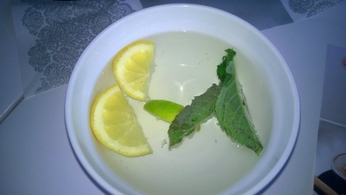 Meridian, vaschetta con acqua